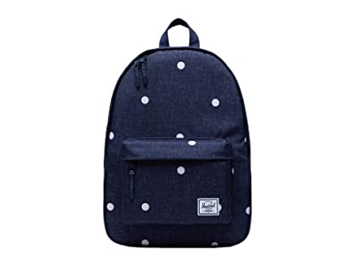 Herschel Supply Co. Classic Mid-Volume (Polka Dot Crosshatch Peacoat) Backpack Bags