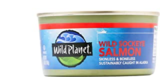 Wild Planet Wild Alaskan Sockeye Salmon, 3rd Party Mercury Tested, 6 Ounce