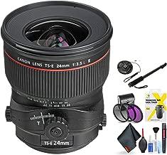 Canon Ts-E 24mm F/3.5L Ii Tilt-Shift Lens for Canon 6D, 5D Mark IV, 5D Mark III, 5D Mark II, 6D Mark II, 5Dsr, 5Ds, 1Dx, 1Dx Mark II + Accessories (International Model)