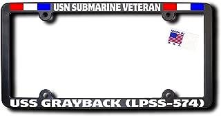 James E. Reid Design USN Submarine Veteran USS Grayback (LPSS-574) License Frame W/Ribbons
