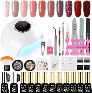 Saint-Acior UV nagel set gel kleuren voor nagels nagellak set 24 W UV + LED nagel lamp starterset manicure 10x gel verniss...