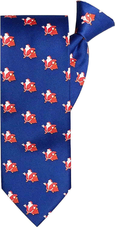 Jacob Alexander Men's Merry Christmas Jolly Ole Santa Clip-On Neck Tie