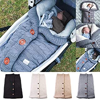AFXOBO Infant Sleeping Blankets Soft Thick Fleece Knit Baby Stroller Wraps Baby Accessory Blanket Unisex