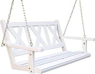 Porchgate Amish Made Haven 4ft. White Porch Swing