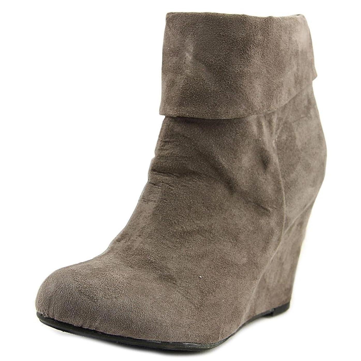 ロケーションリーン企業Report Womens RIKO Closed Toe Suede Fashion Boots, Grey, Size 9.5