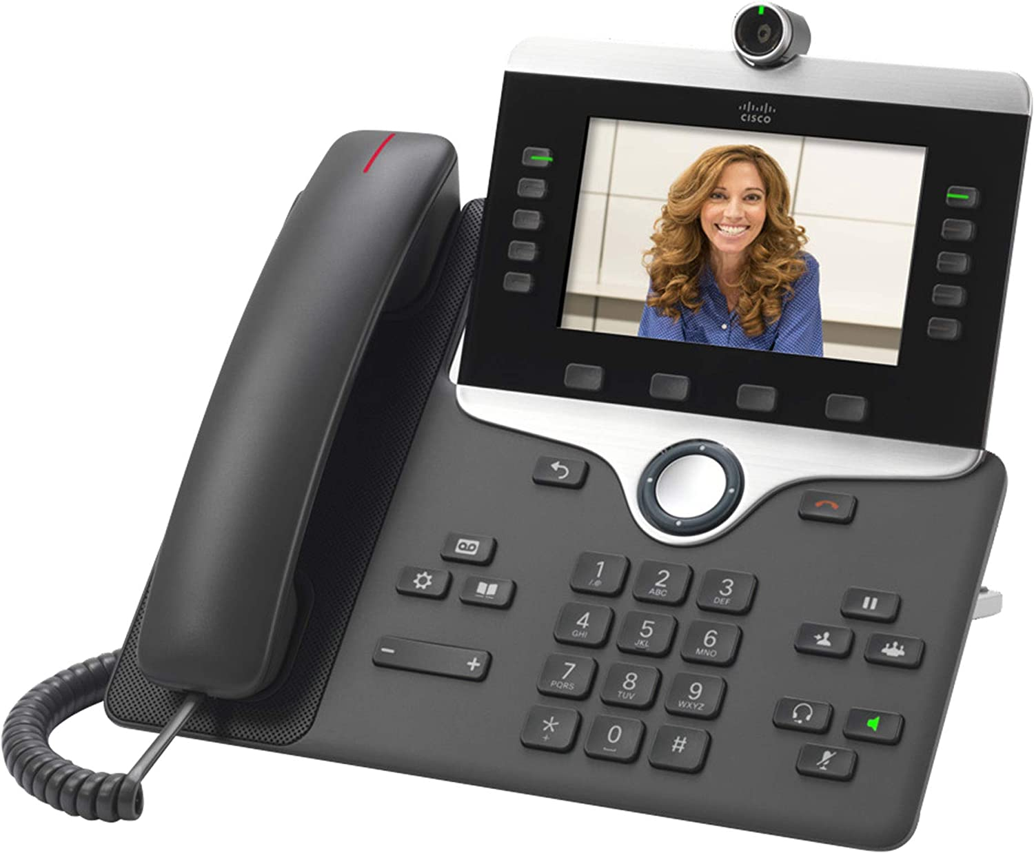Cisco Remanufactured IP Business Phone 8845, 5-inch WVGA Color Display, 720p HD Two-Way Video, Gigabit Ethernet Switch, Class 2 PoE, 1-Year Limited Hardware Warranty (CP-8845-K9-RF)