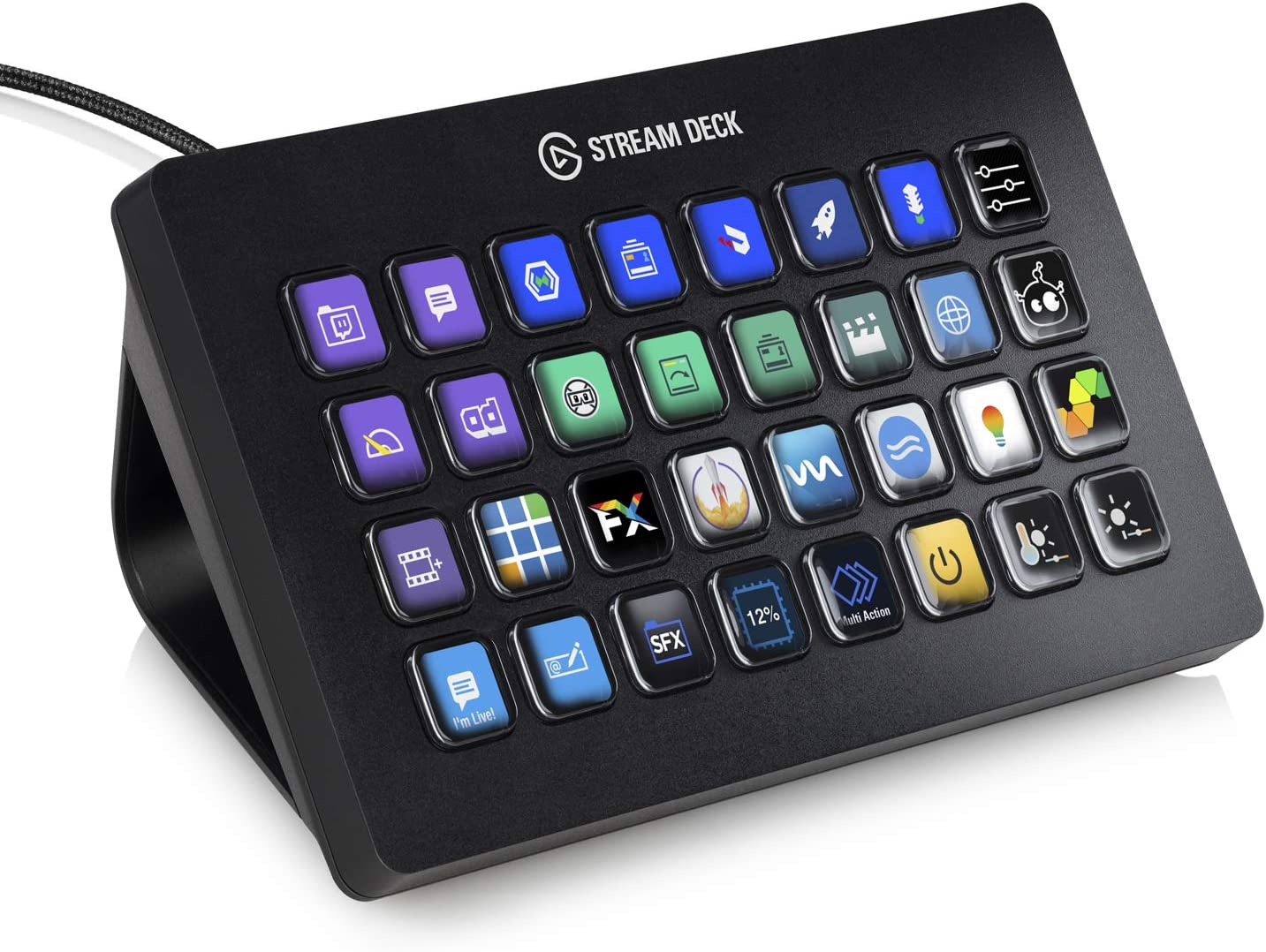 Elgato Stream Deck XL - Advanced Stream Control with 32 Customizable LCD Keys, for Windows 10 and macOS 10.13 or Later (10GAT9901)