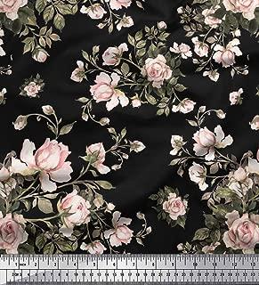 Best black floral velvet fabric Reviews