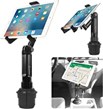 Cup Holder Tablet Mount, Tablet Car Cradle Holder Made by Cellet Compatible for iPad Pro/Air 2019/Mini iPad 9.7 Samsung Galaxy Tab S5e S4 S3 LG tab Micro Soft Surface Go Pro 6 Google Pixel Slate