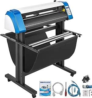 VEVOR Vinyl Cutter 34 Inch Vinyl Cutter Machine 870mm Vinyl Printer Cutter Machine LED Fill Light Strip Vinyl Plotter Cutter Machine with Floor Stand & Signmaster Software