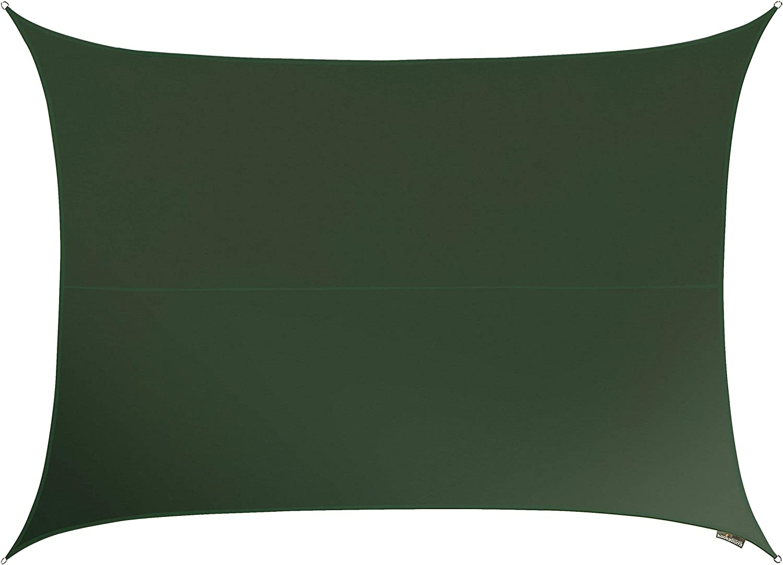 Kookaburra Wasserfest Sonnensegel 5,0m x 4,0m Rechteck Graugrün