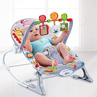 COOLBABY Baby multi-function baby rocking chair for children to soothe and shake the rocking chair and swing seat toy