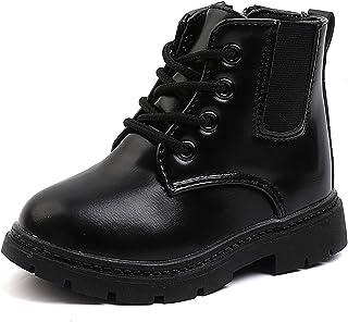 أحذية طويلة للكاحل من Comfyea للأولاد والبنات كاجوال بسحاب (للأطفال الصغار/الأطفال الصغار)