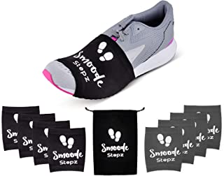 SMOODE STEPZ-Dance Socks/Over sneakers Socks for dancing on smooth/wooden floors /4 PAIRS & a Carry Bag