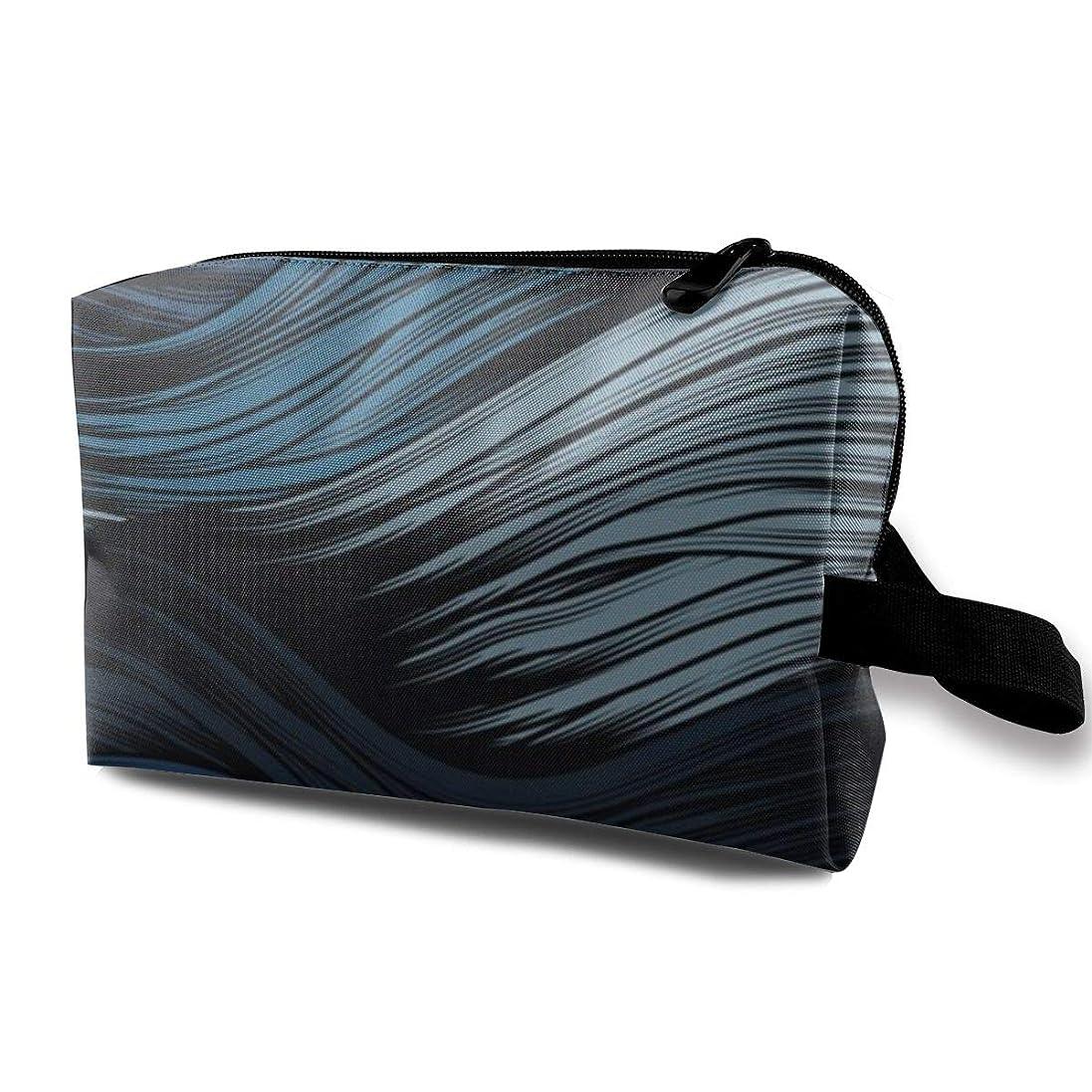 調子カード効率的に波 線 抽象的 化粧品袋 トラベルコスメティックバッグ 防水 大容量 荷物タグ付き 旅行収納ポーチ アレンジケース パッキングオーガナイザー 出張 旅行 衣類収納袋 スーツケース整理 インナーバッグ メッシュポーチ 収納ポーチ