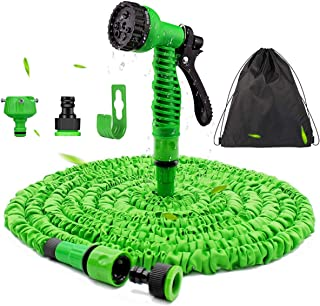 Expandable Garden Hose 100FT - Flexible Magic Hosepipes Hose Pipe No-Kink with 7 Function Spray Gun, 30M Expanding Waterin...