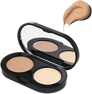 Bobbi Brown New Creamy Concealer Kit, Warm Natural + Pale Yellow Sheer Finish Pressed Powder, 0.11 Ounce