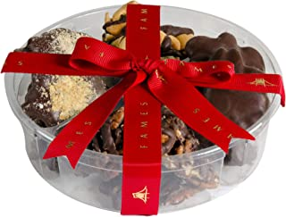 Nut Clusters Chocolate Gift Box - Gift Snack Includes 1 LB of Caramel Brittles, Pecan patties, Almond and Cashew Clusters, Kosher
