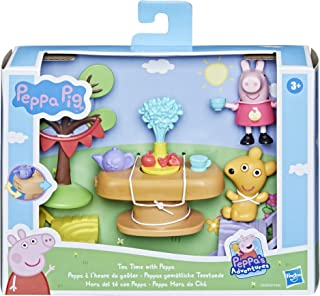 Peppa Pig Peppa's Adventures Tea Time with Peppa Accessory Set Preschool Toy, Peppa Pig Figure and 5 Accessories, for Ages...
