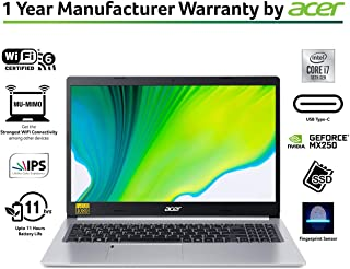 "Aspire 5-A515-54G-74LG-Laptop-Intel® Core™ i7-10510U/12GB/1024GB PCIe NVMe SSD/2GB GDDR5 VRAM NVIDIA® GeForce® MX250/15.6"" FHD Acer ComfyView LED LCD/Win 10 Home/WiFi-6/Silver"