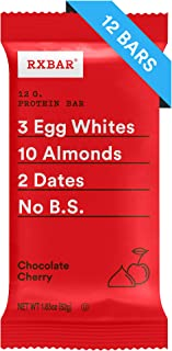 RXBAR, Chocolate Cherry, Protein Bar, 1.83 Ounce (Pack of 12) Breakfast Bar, High Protein Snack