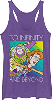 Toy Story Women's Infinity and Beyond Rainbow Racerback Tank Top