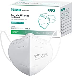 IDOIT Mascarillas ffp2 filtro Certificado CE y EN 149:2001+A1:2009 mascarillas ffp2 homologadas para adultos y niños (50 p...