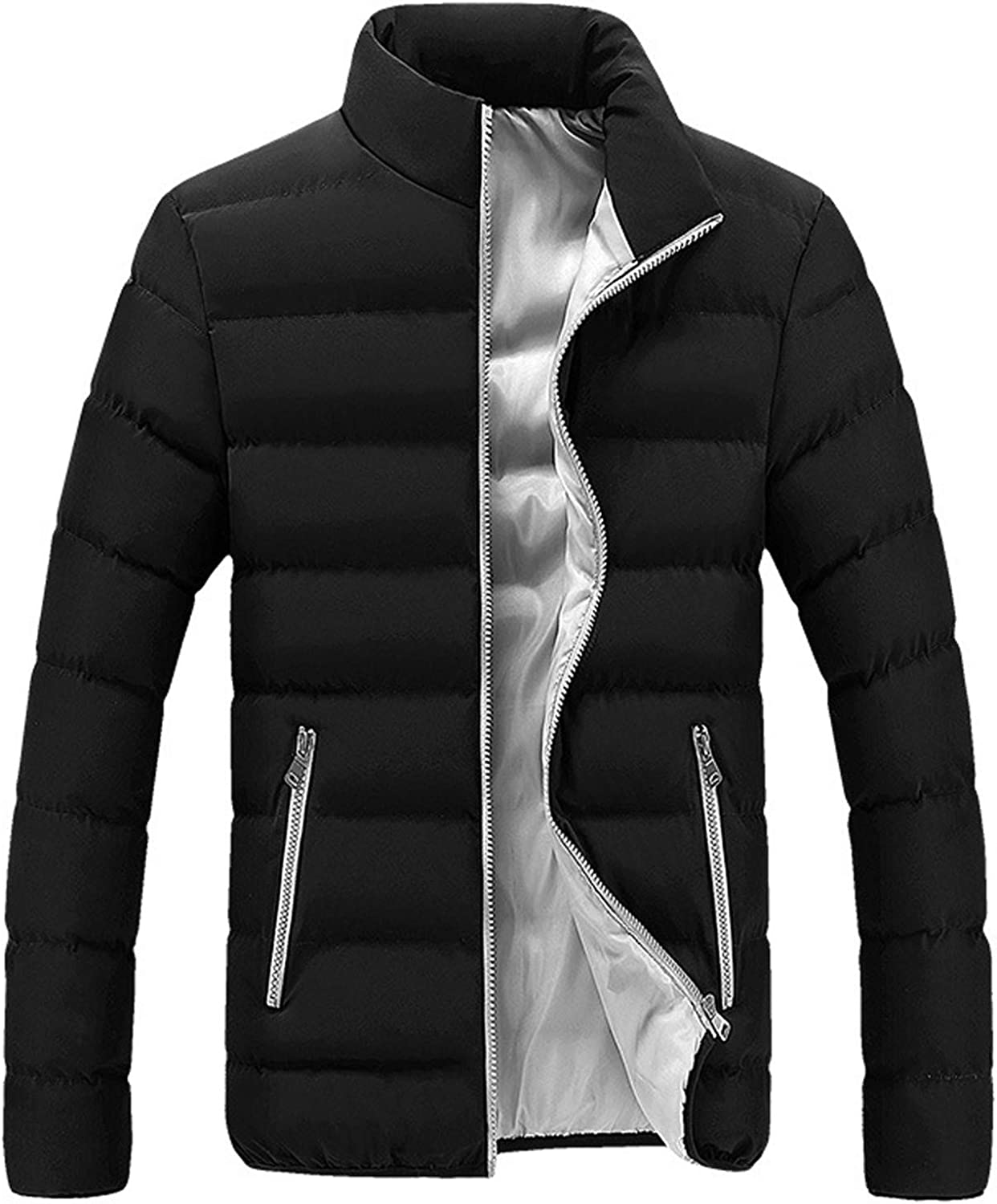 NREALY Men Winter Warm Slim Fit Thick Bubble Coat Casual Jacket Outerwear