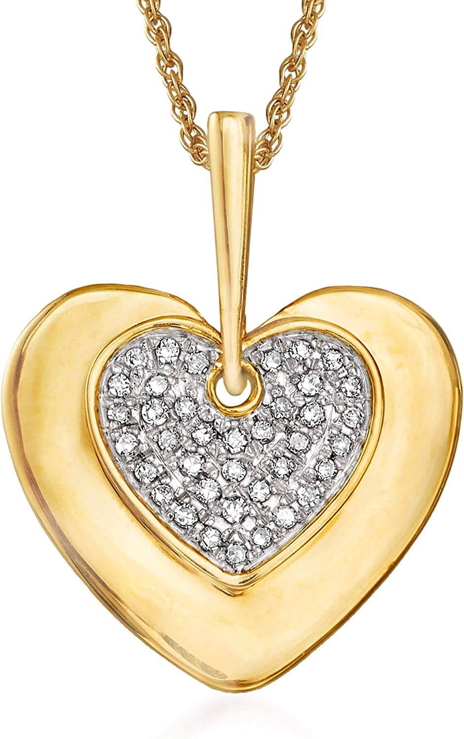 Ross-Simons 0.10 ct. t.w. Diamond Indefinitely 5 ☆ very popular in Necklace Pendant 14kt Heart