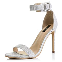 90adbd46bf26bb DailyShoes Women s Stiletto Heels Open Toe Ankle Buckle Strap .