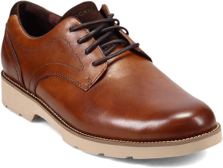 Rockport Men's, Bradlee Plain Toe Oxford Cognac 9.5 W