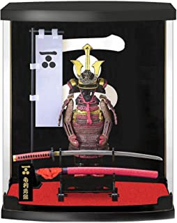 Japan Samurai Armor Figure Series H8.3×W6.9×D3.6 with Real Sword(Katana), Suitable for use in Study Office Living Room, Su...