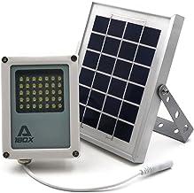 Alpha 180X Solar Flood Light (Warm White LED) as Security Floodlight and Area Lighting for Farm Area, Yard, Home Garden, R...