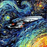 VYQDTNR Diamond Art 5d Full Drill Diamond Painting Kits,Game for Adult Anime Star Trek Pictures Home Office Wall Art Craft Decoration Gift 19.7x23.6inch.
