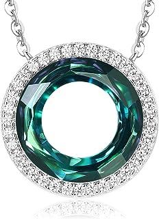 Happy Ferris Wheel Birthday Gift Circle Crystal Necklaces...