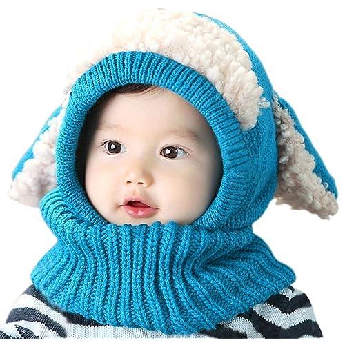 b52a5ec6856 Tuopuda Baby Girls Boys Toddler Winter Hat Scarf Set Cutest Earflap Hood  Warm Knit Hat Scarves