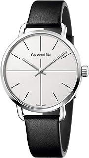 Calvin Klein Unisex Adult Analogue-Digital Quartz Watch with Leather Strap K7B211CY