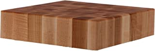 John Boos Block CCB18-S Classic Collection Maple Wood End Grain Chopping Block, 18 Inches x 18 Inches x 4 Inches