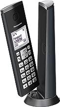 Panasonic KX-TGK210 - Teléfono fijo inalámbrico de diseño (LCD, identificador de llamadas, agenda de 50 números, bloqueo de llamada, modo ECO), Negro, TGK21 Solo