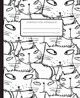 Composition Book: CATS! CATS! CATS! School Exercise Journal with Wide Ruled Paper for Middle, Elementary, High School and ...