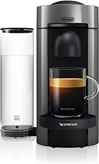Nespresso ENV150GY VertuoPlus Coffee and Espresso Machine by De'Longhi, 5.6 x 16.2 x 12.8 inches, Graphite Metal