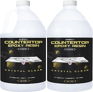 Epoxy Resin for Countertop - 2 Gallon kit - UV Resistant Crystal Clear Epoxy Resin Kit - 1:1 Ratio for Clear Coating Wood,...