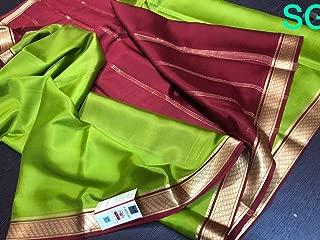 Fashion Vibes Designer Pure Mysore Silk Crepe Saree