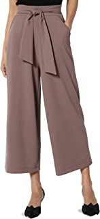 Mid Or High Waist Cropped Skinny Or Wide Leg Trouser Pants Culottes