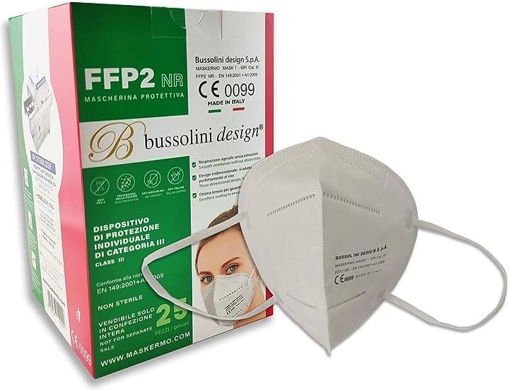Mascherine ffp2 - certificate ce - made in italy bussolini design 8052536159839