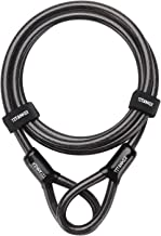 Titanker Bike Steel Cable, 12mm Thick Heavy Duty Security Vinyl Coated Flexible Steel Cable with Loop End