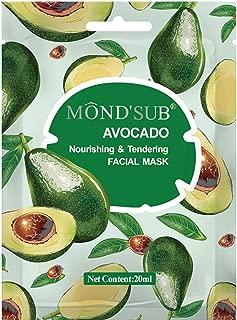 Mondsub Avocado Nourishing & Tendeing Face Sheet Mask Pack of 1 x 20ml