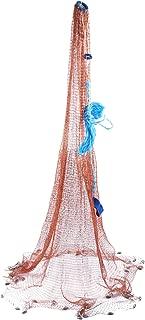 YaeMarine Fishing Cast Net Hand Throw Tire Line Fishing Net Freshwater Saltwater Net 4FT/6FT/8FT/10FT/12FTRadius Size