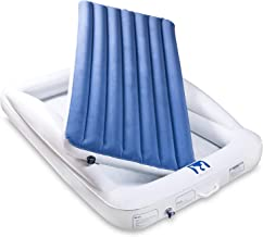 Emma + Ollie Inflatable Toddler Bed with Bed Rails - Portable Travel Blow Up Air Mattress with Safety Bumpers - Perfect for Home, Travel, Camping, Grandparents (Includes Electric Pump)