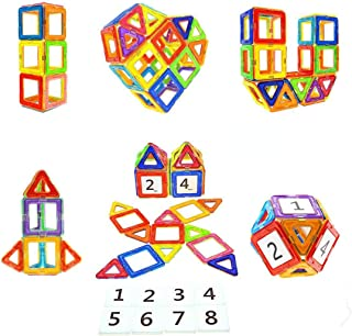 Magnetic Blocks STEM Educational Toys Magnet Building Block Tiles Set for Boys and Girls by Coodoo